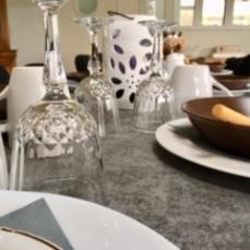 verre sur table